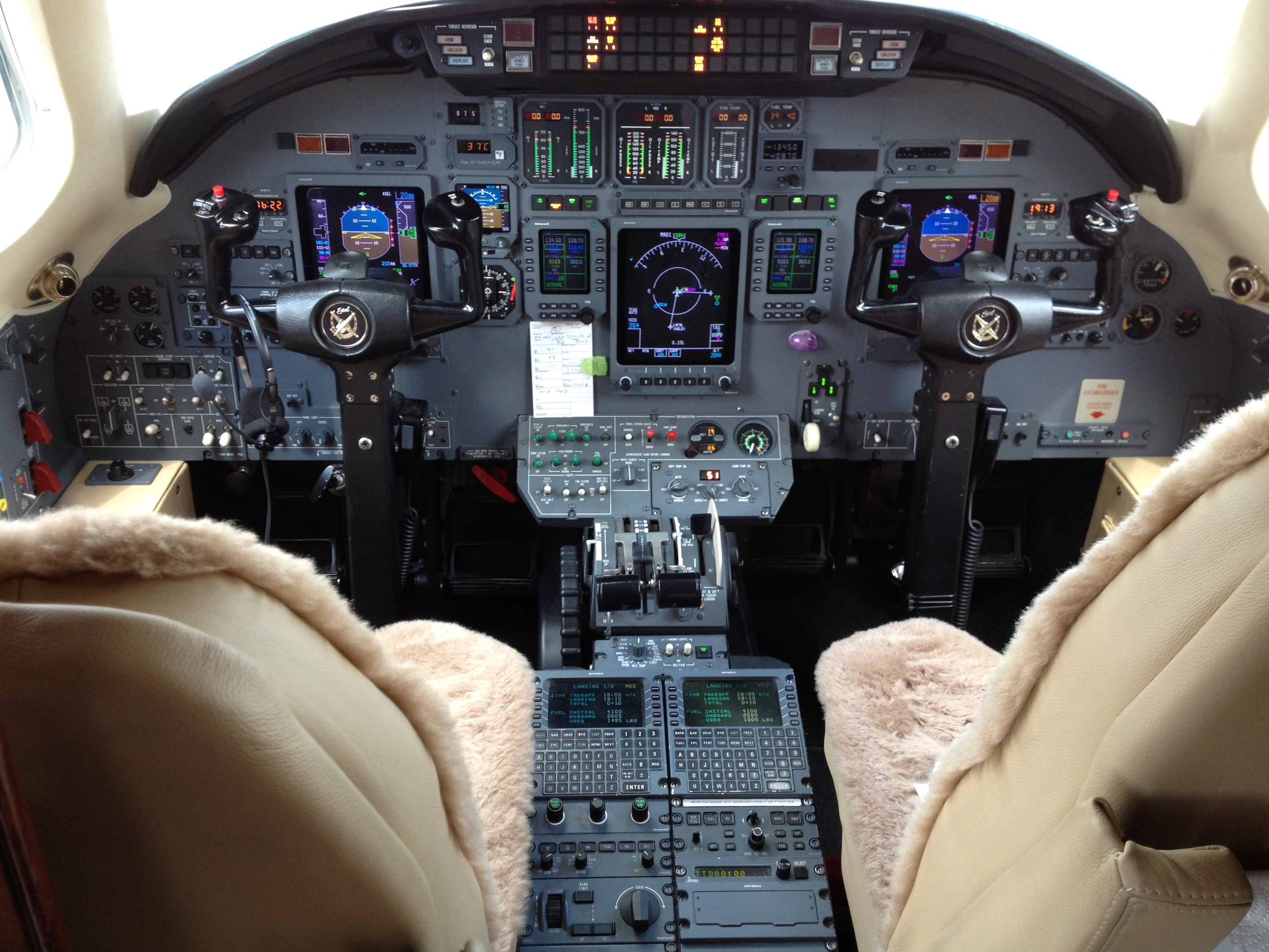 Cessna Citation Excel Cockpit And Instrument Panel From