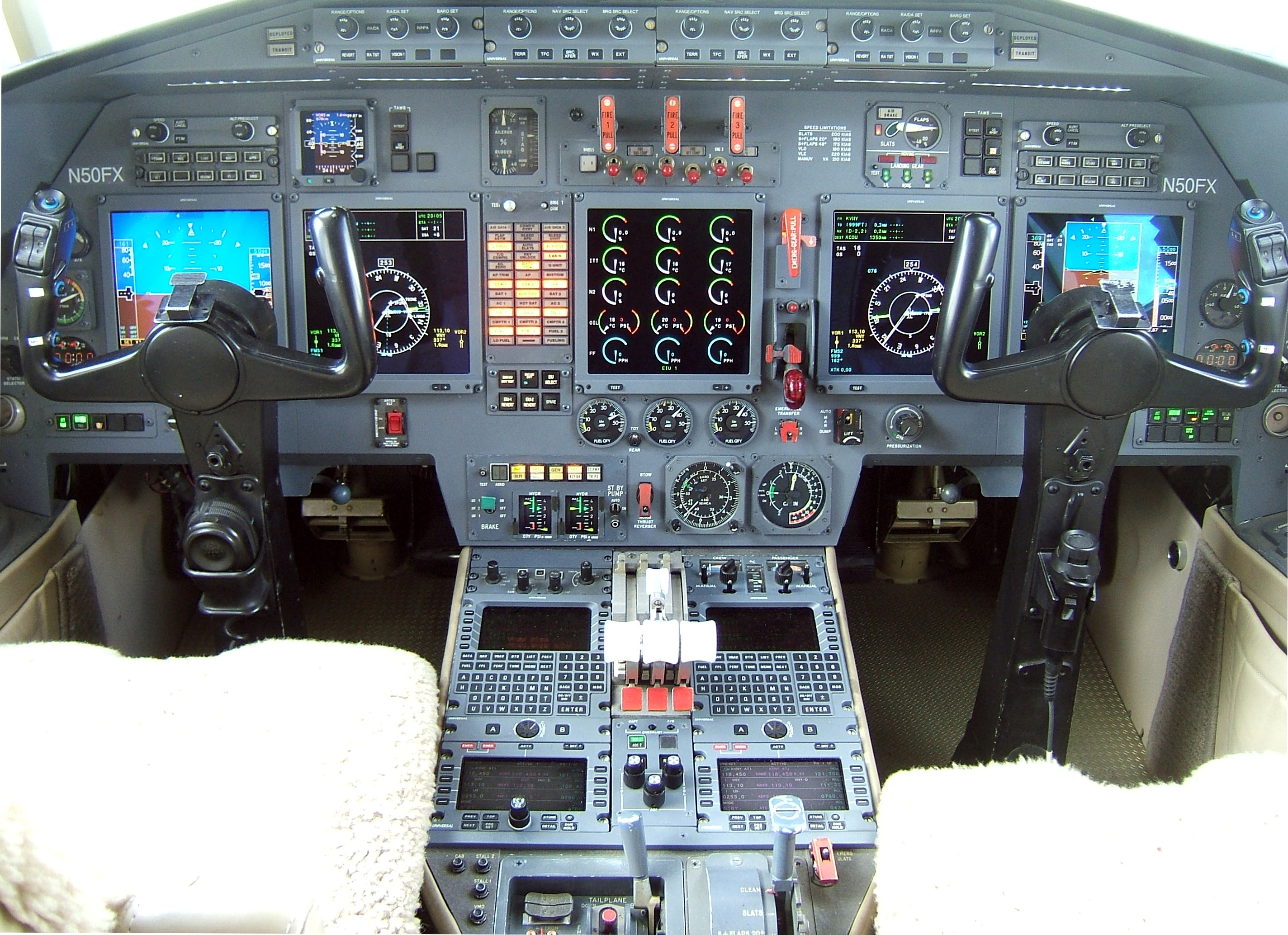 Cockpit Instrument Panel : Cockpit from the