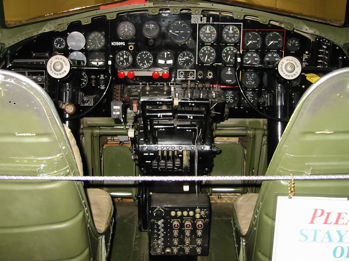 B 17 Wiring Diagram Owner Manual And Books Rj45 Boeing Flying Fortress Instrument Panel Cockpit From The Rh Captmoonbeam Com Ethernet Cable Connector